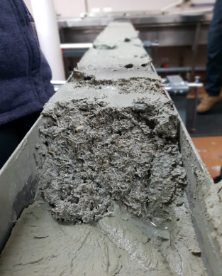 Fine grained calcareous sediment is overlain by coarse broken calcareous shell and bryazoan fragments in a cool-water carbonate turbidite cored as part of hands on marine science training during CAPSTAN's 2019 voyage on RV Investigator